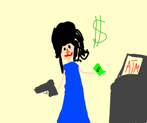 Amy Winehouse robs ATM