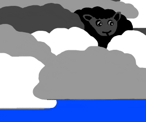black sheep amidst the clouds