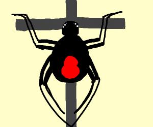 Spider that's crucifixon