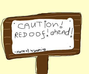 red oof! sign