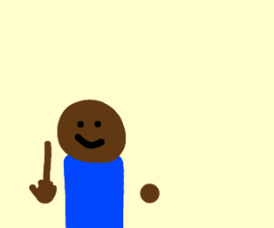 Black man has a really long middle finger