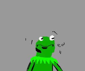 kermit is disgusted as heck