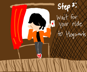 Step 1: Get your letter to hogwarts