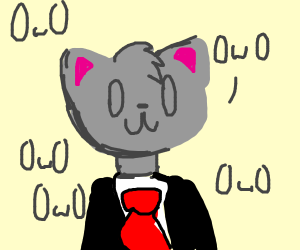 tuxedo kitty goes OwO
