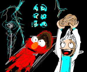 Elmo Get's Brain Taken out
