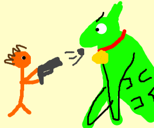 orange man plans to kill hulk doggo