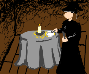 Witch setting a table... For one :(