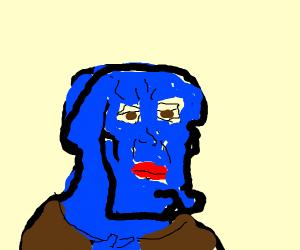Sexy dark blue squidward