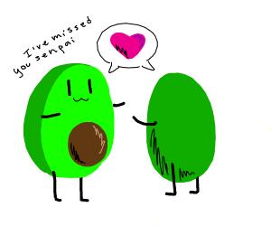 Avocado half found its other half <3