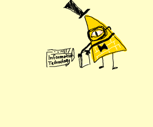 Bill Cipher as an IT guy