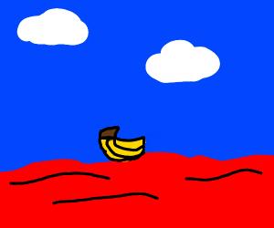 banana in red sea