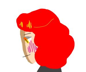 blushing redhead boi UwU