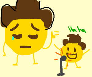 Cowboy Emoji is disappointed at sons shortcom