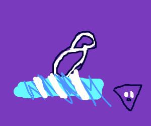 A figure 8 on ice
