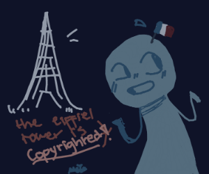 fun fact! the eiffel tower is copyrighted