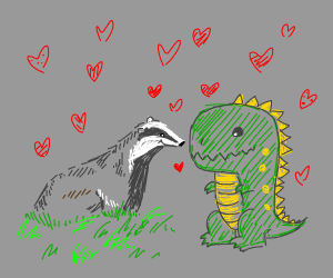 Dinosaur x Badger love