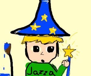 jazza as a wizard
