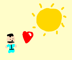 Ike (Southpark) inlove with the sun
