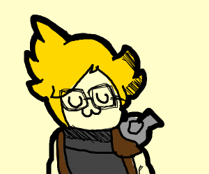 cloud strife with glasses