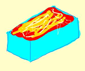 Lasagna in a fancy box