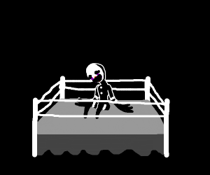 FNAF puppet in boxing ring by themselves