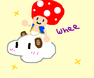 Toad riding a cloud