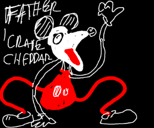 Demonic Mickey that craves father's cheddar