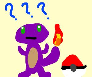 Purple Charmander is confused