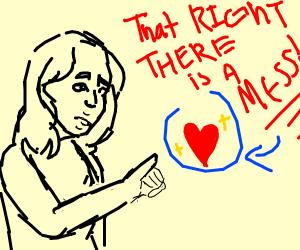 Woman describes love