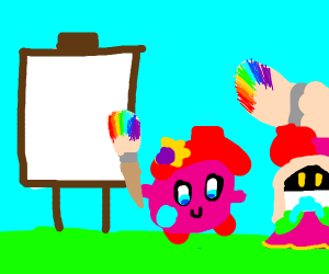 kirby uses paint