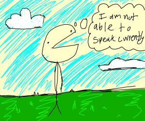 speechless stick man