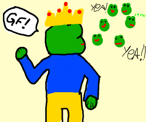 king of the pepes preaches to his people