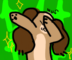 cocker spaniel dabbing