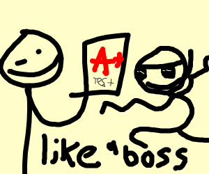Gets A+ like a boss!!