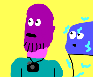 Tourist Thanos w/ an Electric Blue Icecream