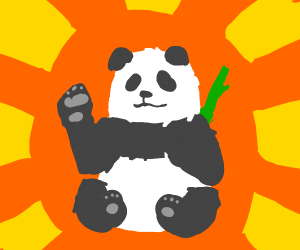 a panda that have seen everything