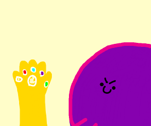 Thanos before snapping his Fingers