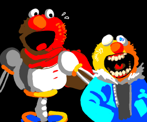 Yellmo is Sans and Elmo is Papyrus