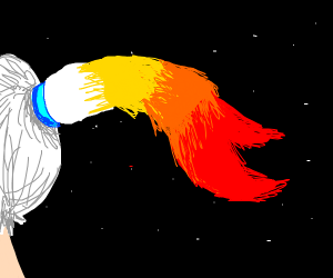 Comet pony tail