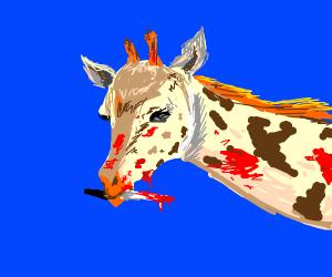 Murderous giraffe