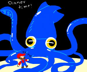 giant squid wants mario for dinner