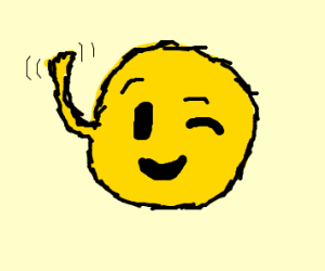 wink emoji waving