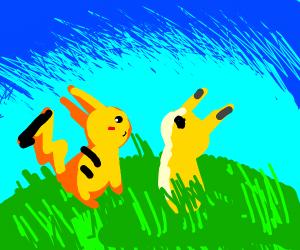 pikachu meeting mimikyu
