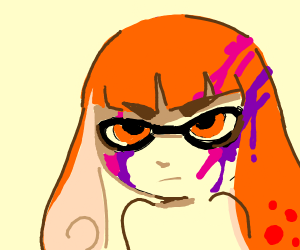 Splatoon girl made mess with colors.