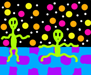 aliens dancing at the disco