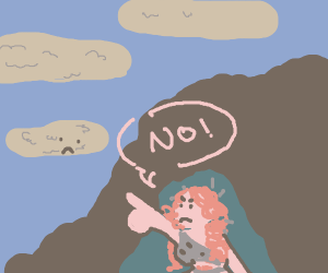 Cave woman refuses clouds