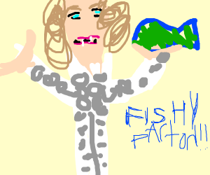 Game where you are Dolly Parton eating fish