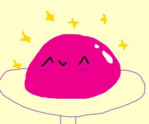 happy pink blob
