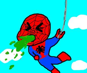 Spider-Man is very sick