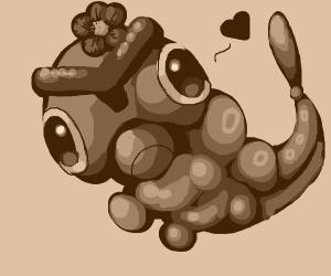Little brown girl caterpillar